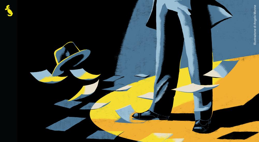 I Laboratori di Florinas in giallo 2018 - Illustrazione di Angelo Monne